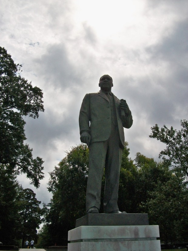 MLK statue in Kelly Ingram Park in Birmingham. AL
